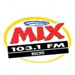 Logo da emissora Rádio Mix Recife 103.1 FM