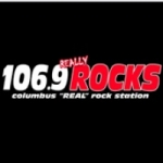 Logo da emissora Radio WRCG 106.9 FM