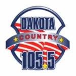 Logo da emissora KMOM 105.5 FM Dakota