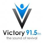 Logo da emissora WWEV 91.5 FM Victory