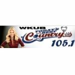 Logo da emissora Radio WKUB 105.1 FM