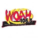 Logo da emissora WOAH 106.3 FM
