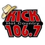Logo da emissora Radio KIKD Kick 106.7 FM