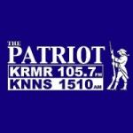 Logo da emissora Radio KRMR The Patriot 105.7 FM