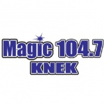 Logo da emissora Radio KNEK Magic 104.7 FM