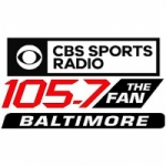 Logo da emissora Radio WJZ CBS Sports The Fan 105.7 FM