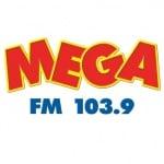 Logo da emissora Rádio Mega 103.9 FM
