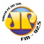 Logo da emissora Rádio Jovempan 92.5 FM