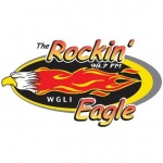 Logo da emissora WGLI 98.7 FM The Rockin' Eagle