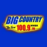 Logo da emissora WWBR 100.9 FM Big Country