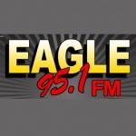 Logo da emissora WUPN 95.1 FM Eagle