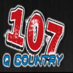 Logo da emissora WSAQ 107.1 FM Q-Country