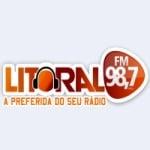 Logo da emissora Rádio Litoral 98.7 FM