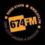 Logo da emissora 674 FM