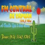 Logo da emissora Rádio FM Central de Capuan 104.9