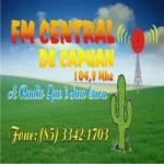 Logo da emissora Rádio Central de Capuan 104.9 FM