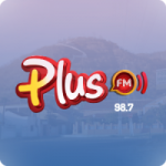 Logo da emissora Rádio Plus 98.7 FM