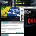 Logo da emissora Rádio Voz Setor 4