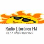 Logo da emissora Rádio Litorânea FM 98.7