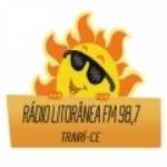 Logo da emissora Rádio Litorânea 98.7 FM