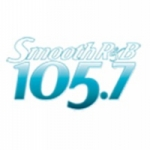 Logo da emissora KRNB 105.7 FM