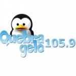 Logo da emissora Rádio Comunitária Quebra Gelo 105.9 FM