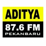 Logo da emissora Aditya 87.6 FM