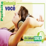 Logo da emissora Rádio FM Cultural 105.9 FM