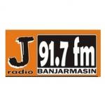 Logo da emissora J Radio 91.7 FM