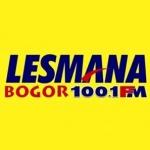 Logo da emissora Radio Lesmana 100.1 FM
