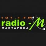 Logo da emissora Radio M 107.1 FM