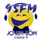Logo da emissora Rádio Jovem Som FM Classe A