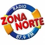 Logo da emissora Rádio Zona Norte 87.9 FM