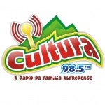 Logo da emissora Rádio Cultura 98.5 FM