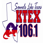 Logo da emissora KTEX 106.1 FM