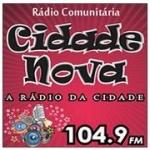Logo da emissora Rádio Cidade Nova 104.9 FM