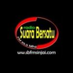 Logo da emissora Suara Bersatu 95.5 FM