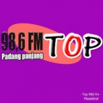 Logo da emissora Radio Top FM 98.6