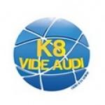 Logo da emissora K8 Rádio e TV