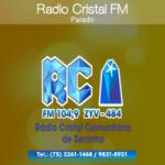Logo da emissora Rádio Comunitária Cristal 104.9 FM