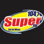 Logo da emissora Rádio Super 104.7 FM
