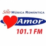 Logo da emissora Radio Amor 100.1 FM