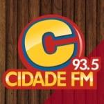 Logo da emissora Rádio Cidade 93.5 FM