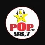 Logo da emissora Rádio Pop 98.7 FM