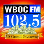 Logo da emissora Radio WBOC 102.5 FM