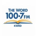 Logo da emissora KWRD WORD 100.7 FM
