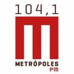 Logo da emissora Rádio Metrópolis  104.1 FM