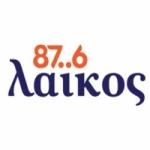 Logo da emissora Laikos 87.6 FM