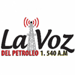Logo da emissora Radio La Voz del Petróleo 1540 AM