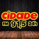 Logo da emissora Rádio Cidade 91.5 FM